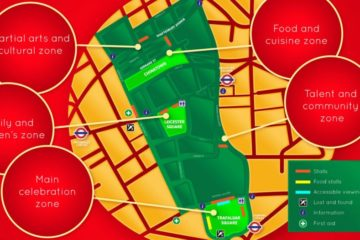 Chinese New Year - Year of the Pig - London map - Short Let London